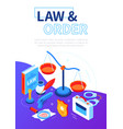law and order - modern isometric web banner vector image