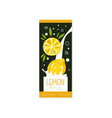 lemon milk logo original design label for natural vector image vector image