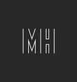 Letter MH logo monogram m and h union mockup thin