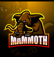 mammoth mascot esport logo design vector image vector image