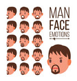 man emotions young male face portraits vector image