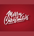 merry christmas hand-written text typography vector image