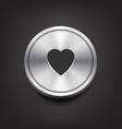 Metal Heart Icon vector image vector image