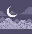 night landscape design vector image vector image