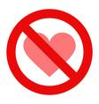 No love sign vector image vector image