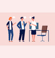 office managers talking business meeting people vector image vector image