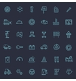 Outline icons Car parts and services vector image vector image