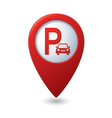 parking icon red map pointer vector image vector image