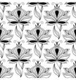 Persian black paisley seamless pattern vector image vector image