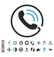 Phone Call Flat Icon With Bonus vector image vector image