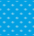 pirate cannon pattern seamless blue vector image vector image