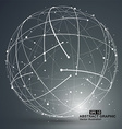 Point and curve constructed the sphere wireframe vector image vector image