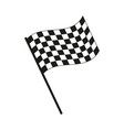 racing flag icon islated vector image vector image