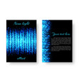 rectangular catalog with neon light vector image vector image