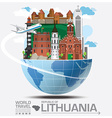 Republic Of Lithuania Landmark Global Travel And vector image vector image