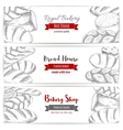 Royal bakery shop bread sketch banners set vector image vector image