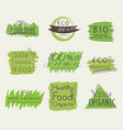 set of banner eco product natural vegan vector image vector image