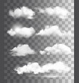 set transparent different clouds vector image vector image