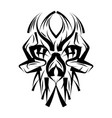 skull in ace vector image vector image