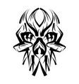skull in ace vector image