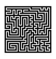 square maze labyrinth black thick outline vector image vector image