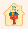 stay at home awareness social media campaign vector image vector image