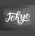 tokyo hand-lettering calligraphy national japan vector image vector image