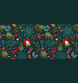 vintage christmas gold decoration seamless pattern vector image