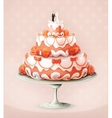 Wedding cake icon vector image vector image