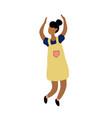 young dancing tiny stylish black woman vector image