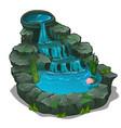 beautiful waterfall with swimming pool vector image