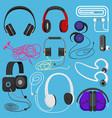 headphones headset to listen vector image