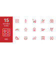 15 kid icons vector image vector image