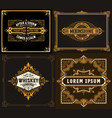 4 old cards for packing western style vector image vector image