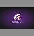 a alphabet letter gold golden logo icon design vector image vector image