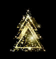 a geometric christmas tree golden glitter vector image
