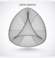 abstract 3d object triangular on pillow vector image vector image