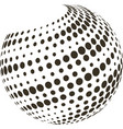 abstract globe with halftone vector image vector image
