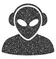 Alien Operator Grainy Texture Icon vector image vector image
