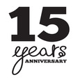 ANNIVERSARY script5 resize vector image