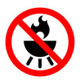 barbecue stop forbidden prohibition sign vector image