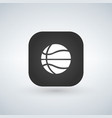 basketball icon black app button with shadow vector image