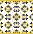 black and yellow mediterranean seamless tile vector image vector image