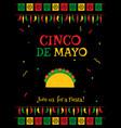 black design cinco de mayo party poster template vector image