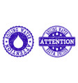 boiling water attention grunge stamp seals vector image vector image
