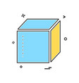 box delivery closed icon design vector image