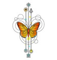 Butterfly Watercolor Tattoo vector image vector image