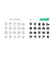 camera ui pixel perfect well-crafted thin vector image vector image