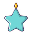 candle star icon cartoon style vector image vector image