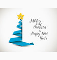 christmas tree made from paper stripe vector image vector image